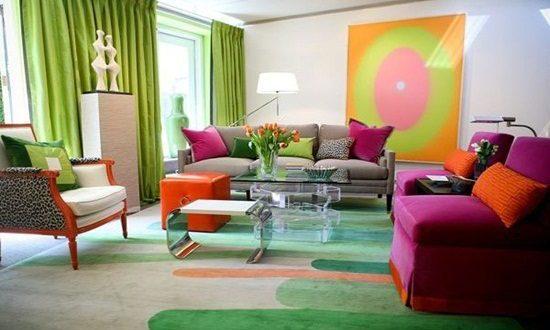 Colorful Living Room Interior Design