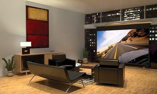 Entertainment center in modern living room