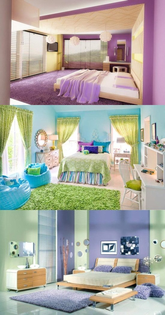 Interior bedroom colors, color scheme