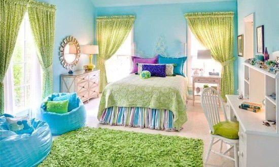 Interior bedroom colors, color scheme