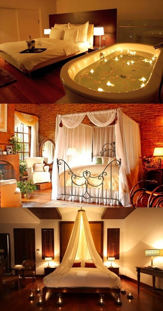 Romantic Room Designs: Modern And Romantic Bedrooms For New Couples