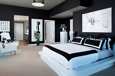 black and white interior design bedroom - Interior Design Bedroom