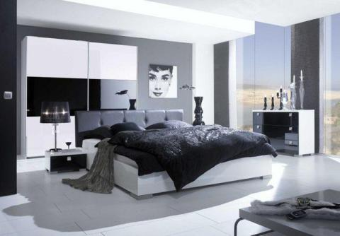 Genial Black And White Interior Design Bedroom