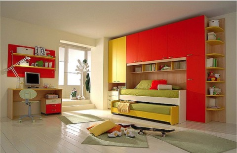 Children 39 s bedroom interior design good colors for Interior designs for kids
