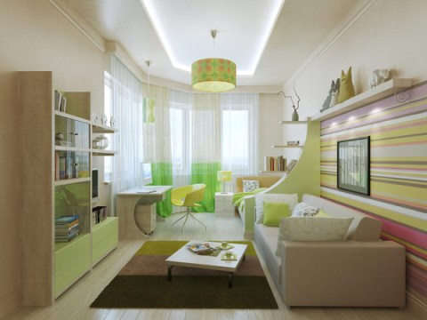 Children 39 S Bedroom Interior Design Good Colors