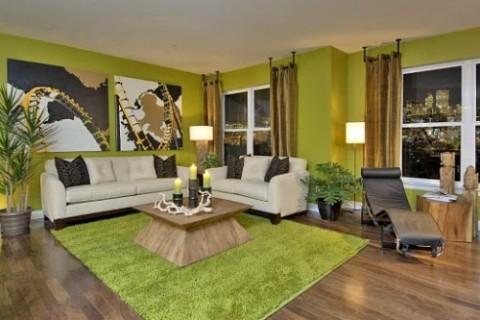 interior design living room green