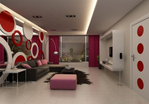Interior paint ideas for the living room interior design for Designs of interior living rooms