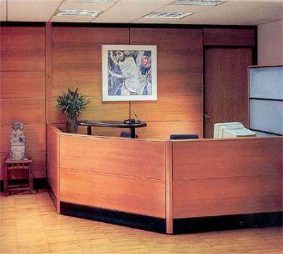office reception interior design