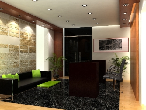 Office reception interior design 2 for Office area design