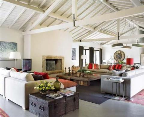 Rustic modern interior design rustic style i antique online for Interior design living room rustic