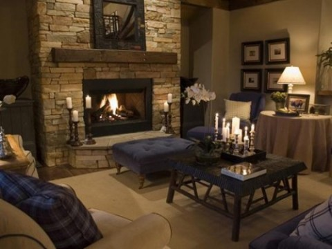 Rustic modern interior design rustic style interior design for Warm decorating ideas living rooms
