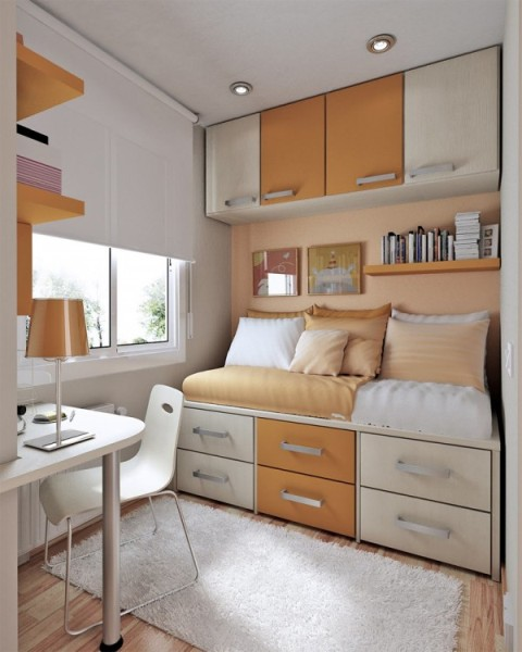 Small space bedroom interior design interior decorating accessories - Small room space saving ideas design ...