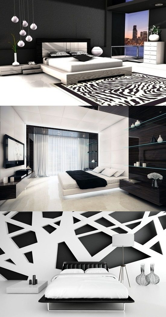 Black and white bedroom decorating ideas interior design for White bedroom interior design