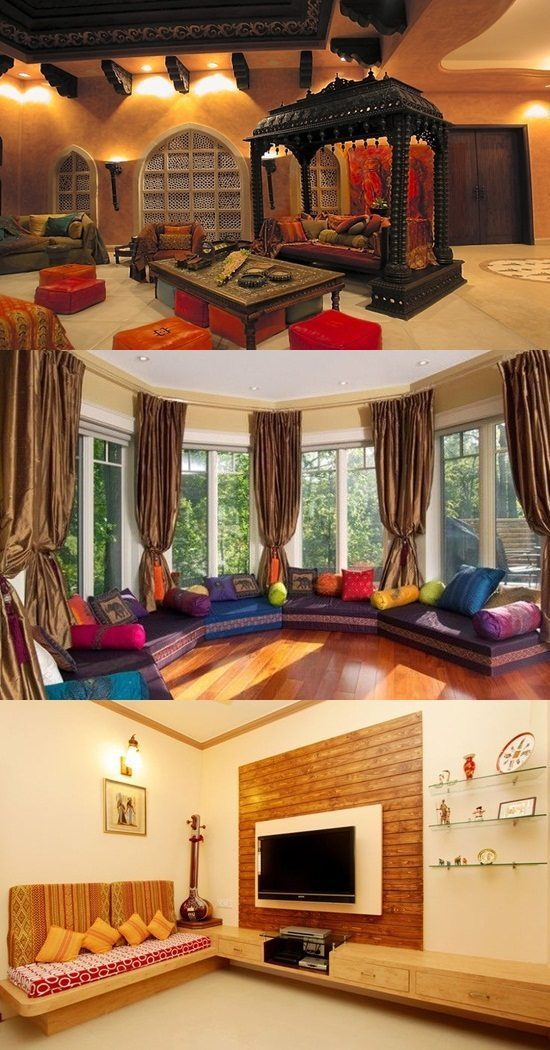 Indian living room interior design interior design for Living room interior design india