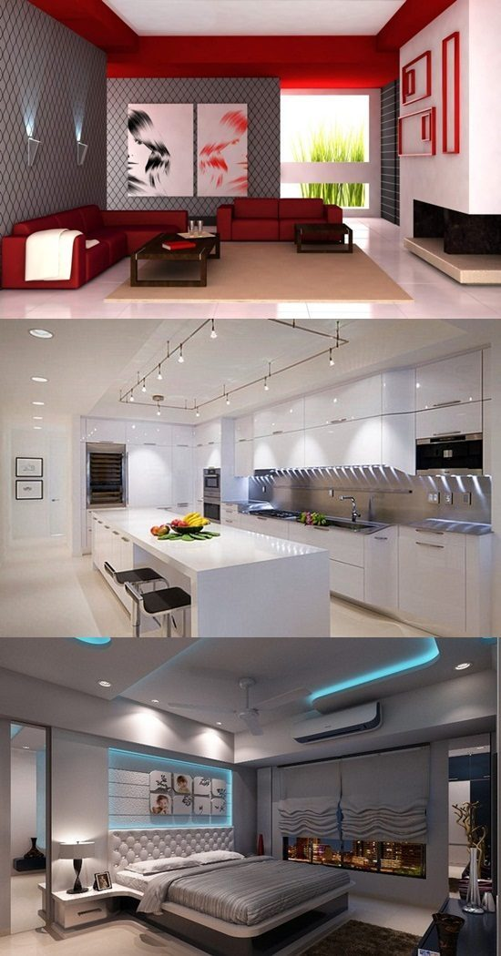 Modern Interior Design, Colors, Lighting