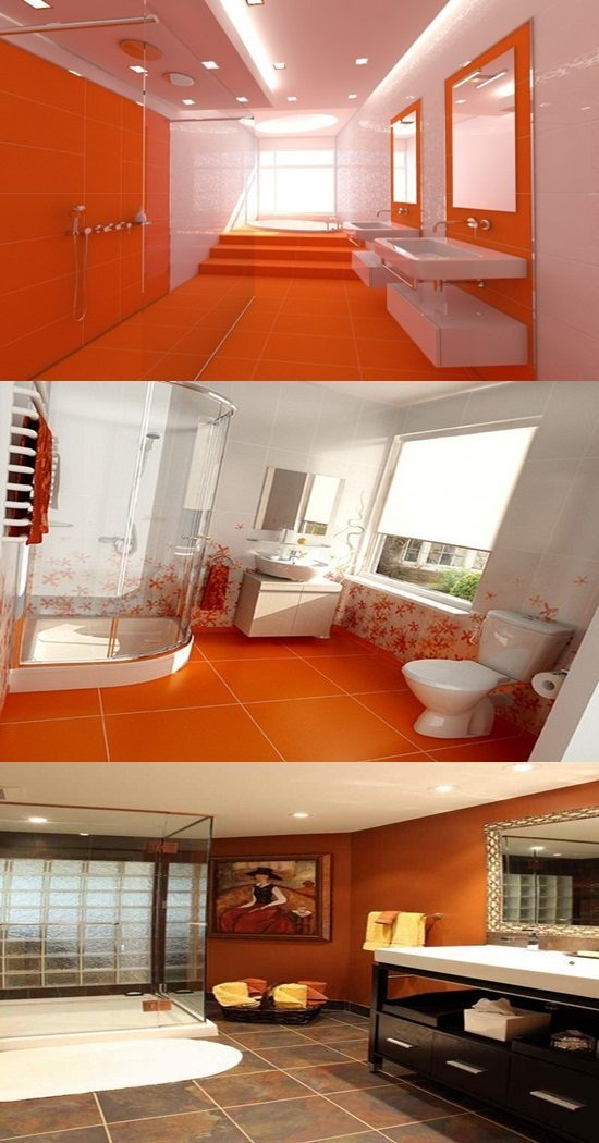 Bathroom Interior Design Tips And Ideas ~ Orange bathroom decorating ideas interior design