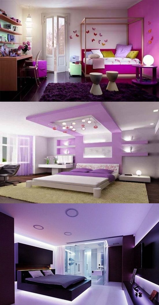 Purple Bedroom Decorating Ideas - Interior design