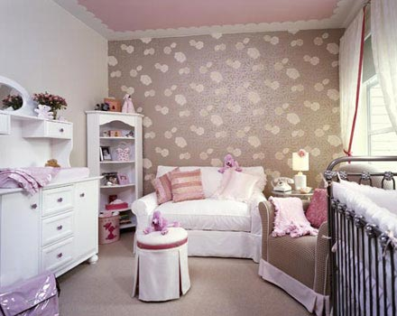 Baby girls 39 nursery decorating ideas interior design for Baby girl bedroom decoration