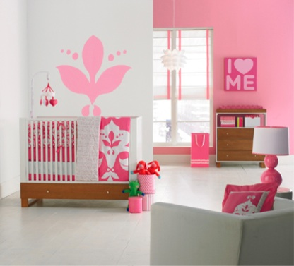 Baby girls 39 nursery decorating ideas interior design for Baby girl room decoration