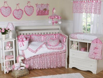 Baby girls nursery decorating ideas interior design - Baby girl room decor pictures ...