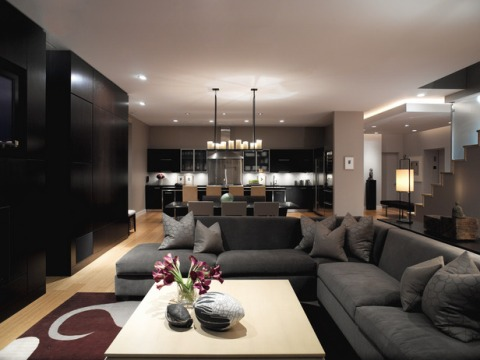 Contemporary living room decorating ideas Modern living room interior design 2012