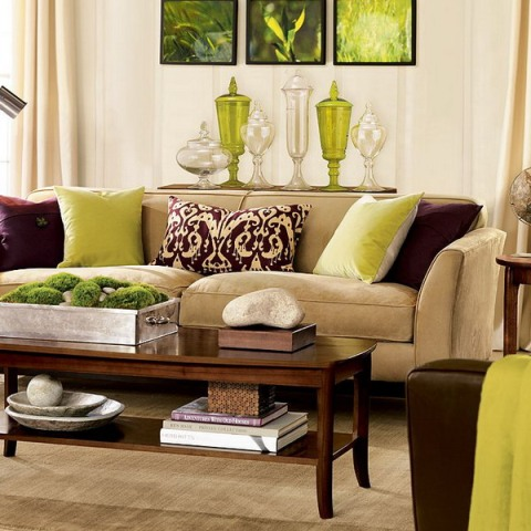 Green and Brown Living Room Decor – Interior design