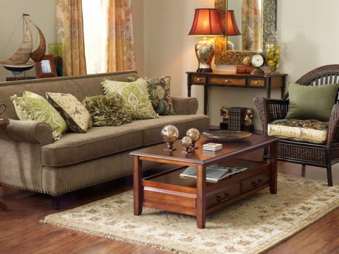 green and brown living room decor interior design On brown living room ideas