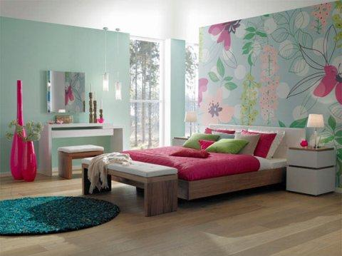 Colorful girls 39 bedroom interior design ideas interior for 1 bedroom design ideas