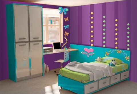 Girls Purple Bedroom Decorating Ideas Interior Design