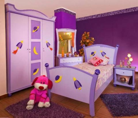 Girls 39 purple bedroom decorating ideas interior design for Interior design ideas for girls bedroom
