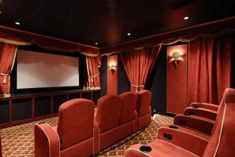 home theater design ideas interior design. Black Bedroom Furniture Sets. Home Design Ideas