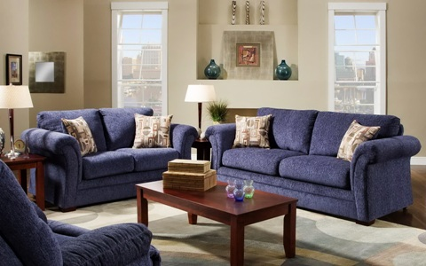 Синий диван в интерьере фото