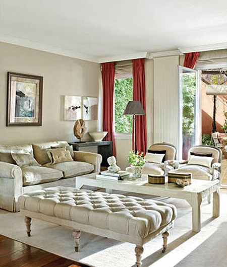 How to decorate a living room with white walls interior - White walls living room ...