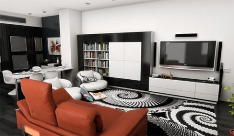 modern interior design for small spaces