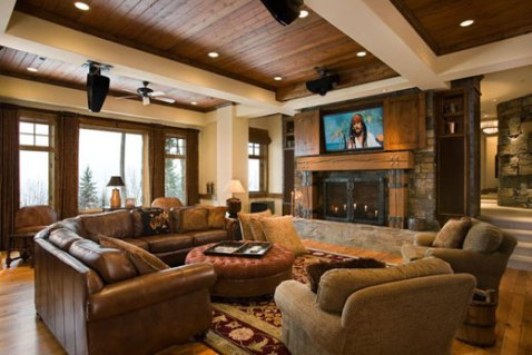 Rustic contemporary interior design ideas interior design for Rustic living room interior design