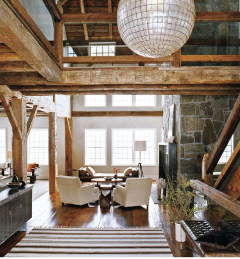 Modern rustic interior design 9 for Rustic barn plans