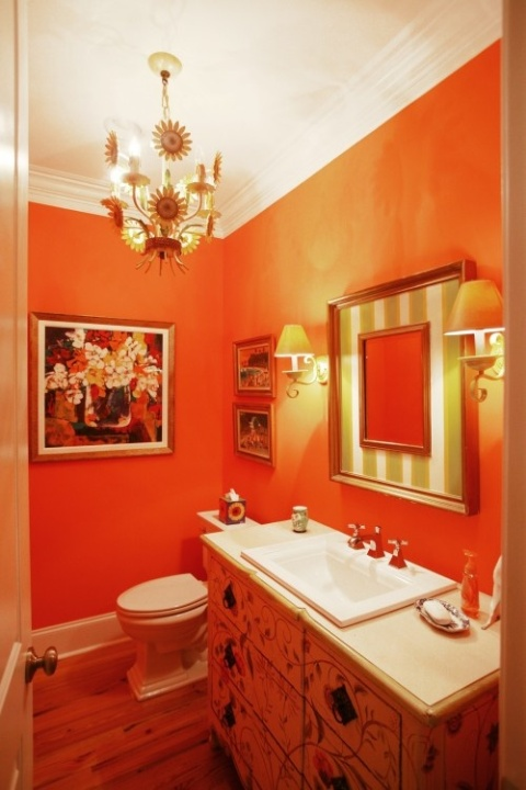 Orange Bathroom Decorating Ideas Awesome Orange Bathroom Decorating Ideas  Interior Design Inspiration