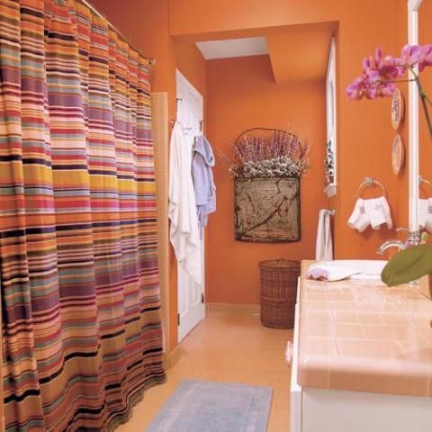 Orange Bathroom Decorating Ideas Delectable Orange Bathroom Decorating Ideas  Interior Design Inspiration
