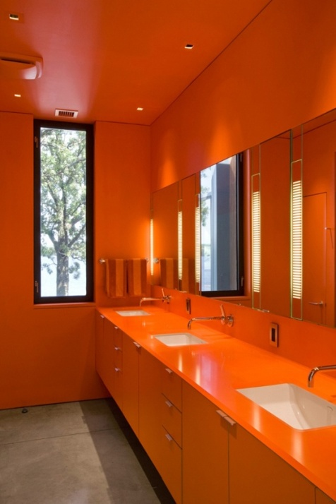 Orange bathroom decorating ideas interior design for Bathroom interior decorating ideas