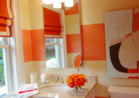 Orange Bathroom Orange Bathroom Decorating Ideas  Interior Design