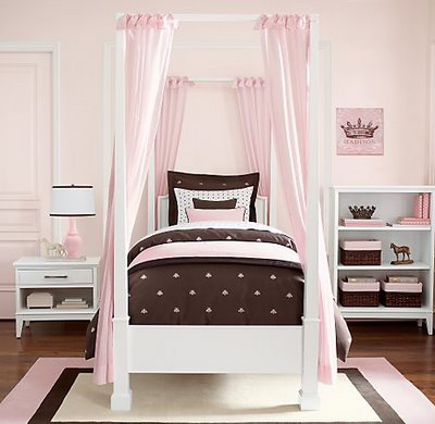 pink and brown nursery and bedroom decorating ideas
