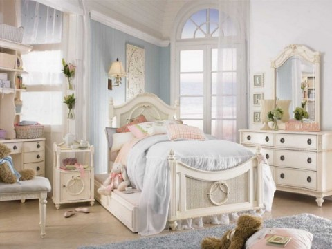 Decorating ideas for shabby chic style bedroom interior - Shabby chic interior design ...