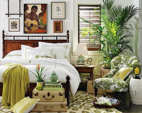 Tropical bedroom decorating ideas interior design for Tropical interior design ideas