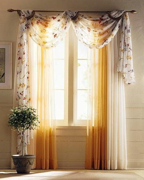 Beautiful bedroom curtains colors and designs interior for Bedroom curtains designs