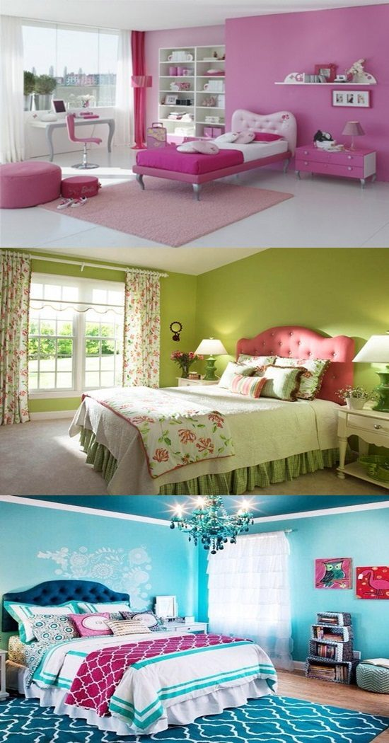 bedroom colors for girls interior design. Black Bedroom Furniture Sets. Home Design Ideas