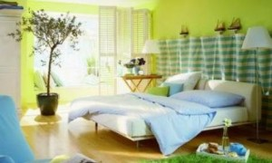 Bedroom interior painting ideas – cool muted colors