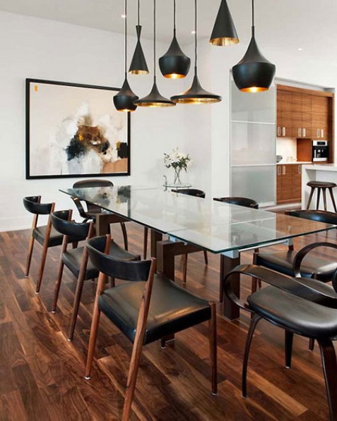 Best ideas for dining room lighting interior design for Dining room 3 pendant lights