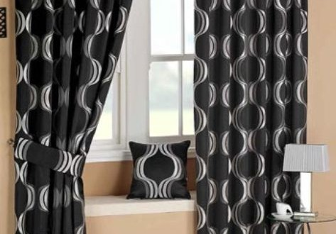 black bedroom curtains interior design