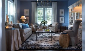 Blue living room decorating ideas