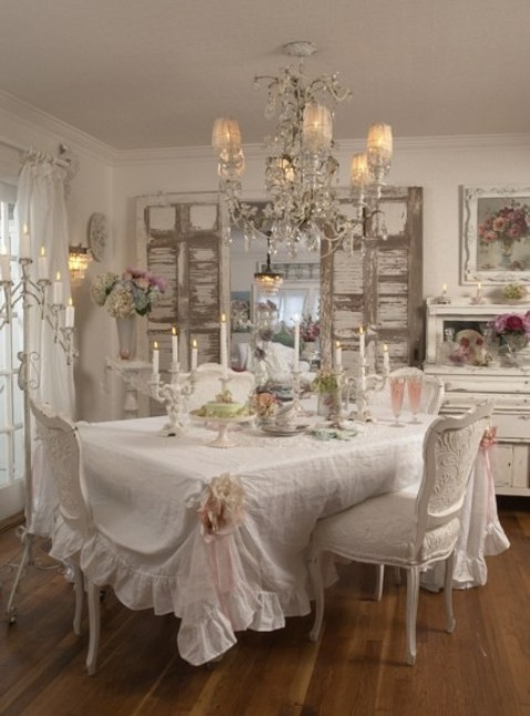 French shabby chic furniture interior design for Shabby chic cottage decor